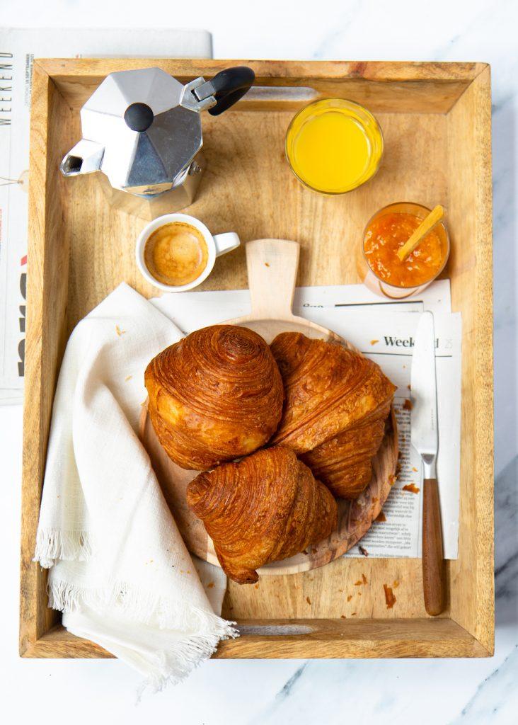 croissant dienblad  © Irene de Waal